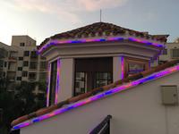 海南鲁郓集团别墅楼顶亮化施工调试白天效果