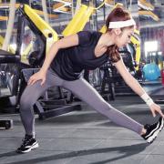 韵格新款女士健身瑜伽服两件套女运动跑步服