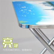 田园方形餐桌 多功能卡通桌 户外摆摊桌