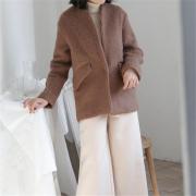 冬季羊毛针织衫外套简约百搭保暖毛衣 新款