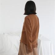 简约素色宽松羊毛针织衫 打底外穿圆领 冬