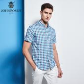 【批发】约翰普森短袖衬衫格纹色织系列18050