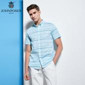 【批发】约翰普森短袖衬衫格条纹色织系列