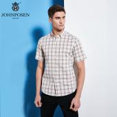 【批发】约翰普森短袖衬衫格纹色织系列