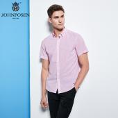 【批发】约翰普森短袖衬衫条纹色织系列
