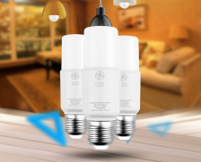 GE通用电气小白led灯泡E27螺口球泡灯超亮大功率节能筒灯家用柱形