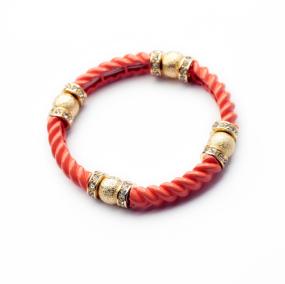 B2086  Muay Thai Buddha Fashion Style Red Hemp Rope Black Wood Bead Wristband Bracelet Thailand