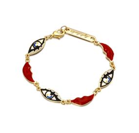 B2091  Women's Silver-tone Full Cubic Zirconia Marquise Leaf Roman Tennis Bracelet Sapphire Color