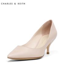 CHARLES&KEITH春单鞋女CK1-60280065-2尖头浅口名媛细高跟鞋