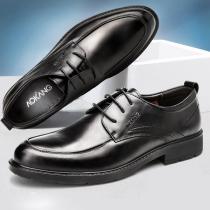 皮鞋男通勤商务正装真皮鞋子百搭英伦风休闲男鞋