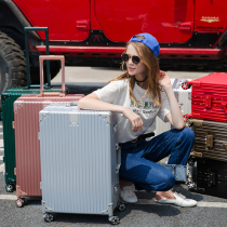 万向轮旅行箱复古直角行李箱28寸20女男密码箱