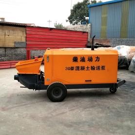 柴油动力细石混凝土输送泵