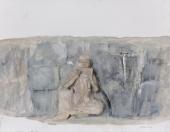 段正渠 《巩义石窟寺浮雕》  32×41
