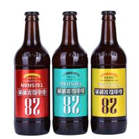 泰山原浆啤酒28天拧盖10度麦芽450毫升* 9瓶箱装