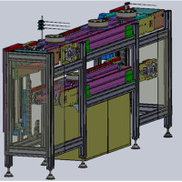 (免费下载)双层倍速链流水线双回路3D设计图+升降机+阻挡器+三维模型-自动化输送机设备制造商