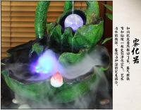荷叶流水喷泉baiji家居饰品摆设盆景加