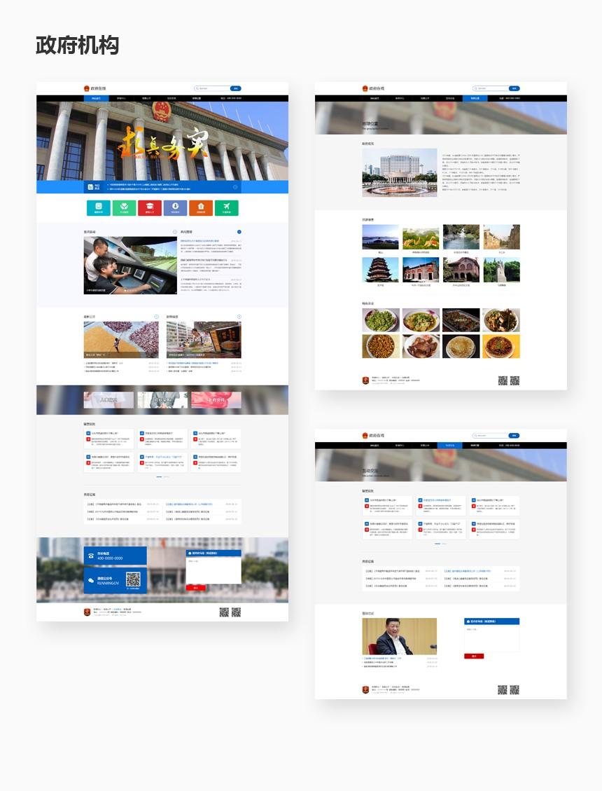 重庆政府机构系统开发-政务行业网站建设