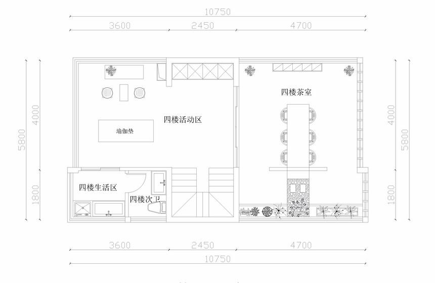 成都別墅裝修-萬科第五城聯排別墅平面設計布局圖