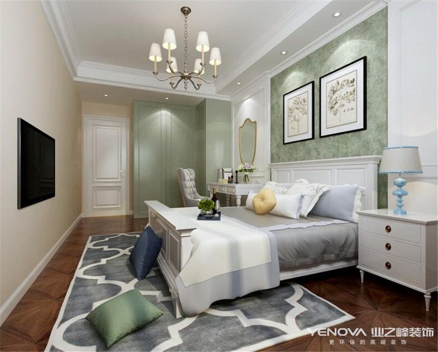 成都业之峰复地金融岛150平方卧室装修设计案例