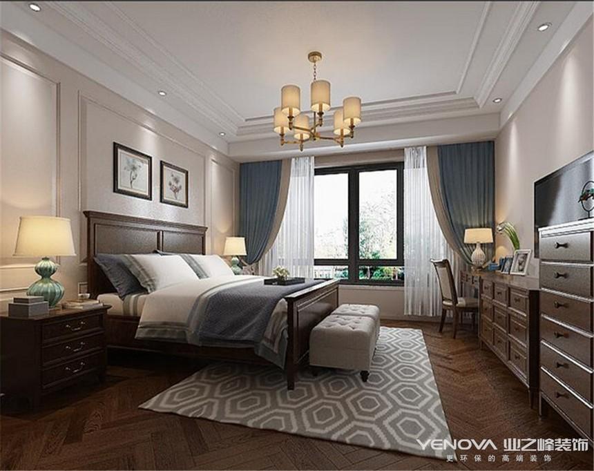 成都業之峰復地金融島150平方主臥室裝修設計案例
