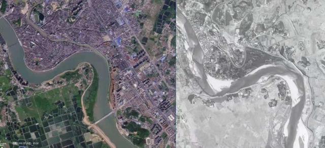 给你一张半世纪前的卫星图,看看那时我们的城市