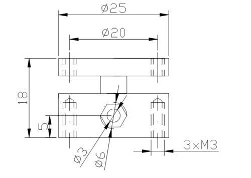 微型称重传感器尺寸图