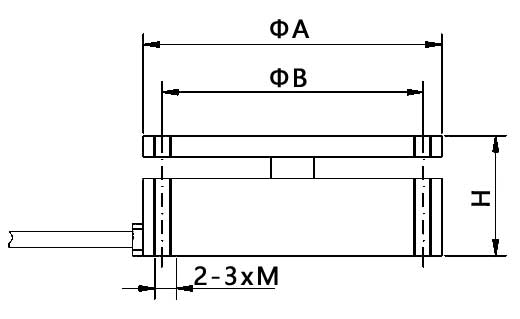 平面压力传感器尺寸图