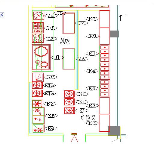 商用厨房设备系统解决方案,厨房设备工程风味蒸煮区图
