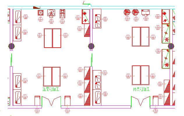 商用厨房设备系统解决方案,厨房设备工程,粗加工区图
