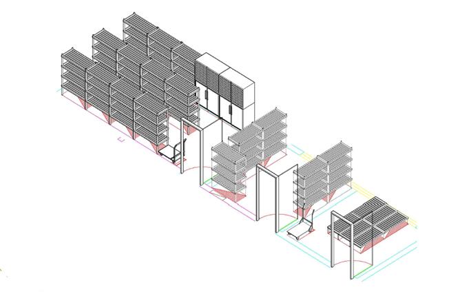 商用厨房设备系统解决方案,厨房设备工程,主食副食基本设备3D效果图