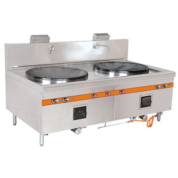 厨房设备厂家直销双头大炒炉,不锈钢厨具