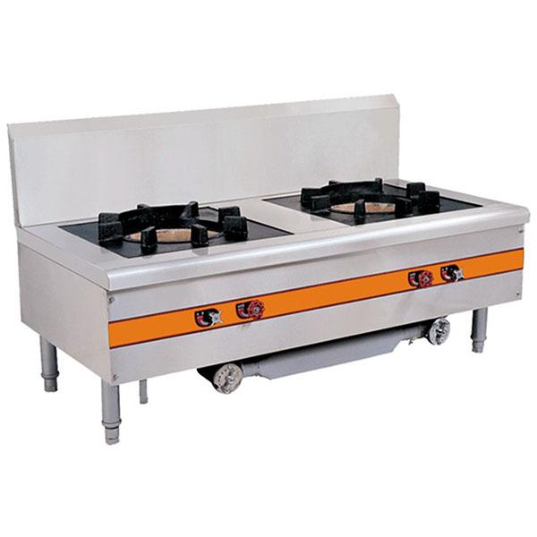 厨房设备厂家直销双头平头炉,厨房设备安装工程