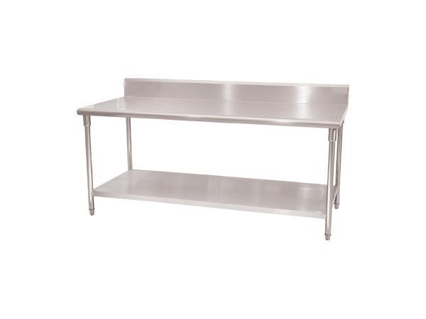 不锈钢厨房设备背靠背双层工作台