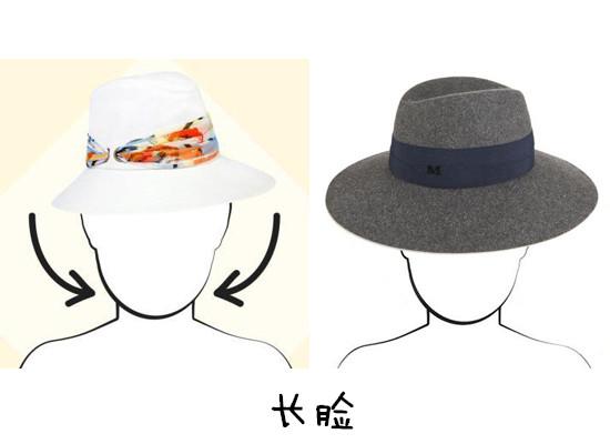根据脸型选帽子