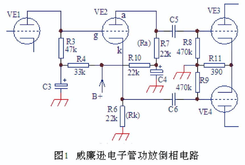电子报热点  p,k分割(板,阴分割)倒相电路广泛应用在无栅流的电子管