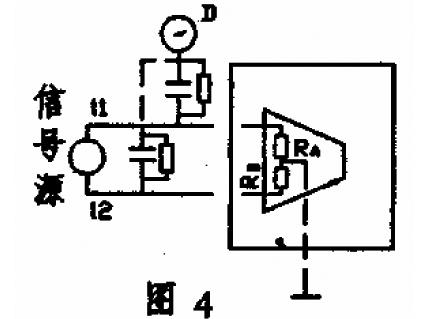 """由于放大器内的""""电阻""""ra,rb不可能完全相等,这也就相当于在放大器输入"""