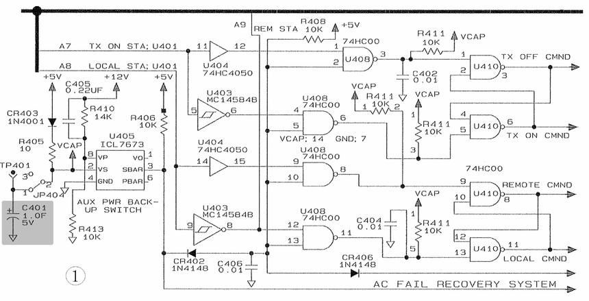 它分成两路:一路输入到缓冲放大器u202的13脚,返回到1a12b电路中,在前