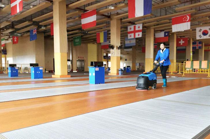 学校教室清洁小型洗地机Gadlee嘉得力品牌