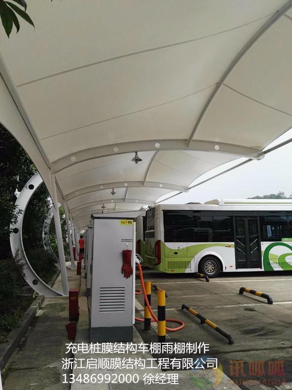 博乐钢膜结构汽车雨棚厂家|钢结构停车棚报价