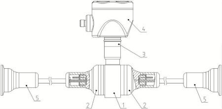 本实用新型的无夹块远传压力、差压变送器的结构示意图