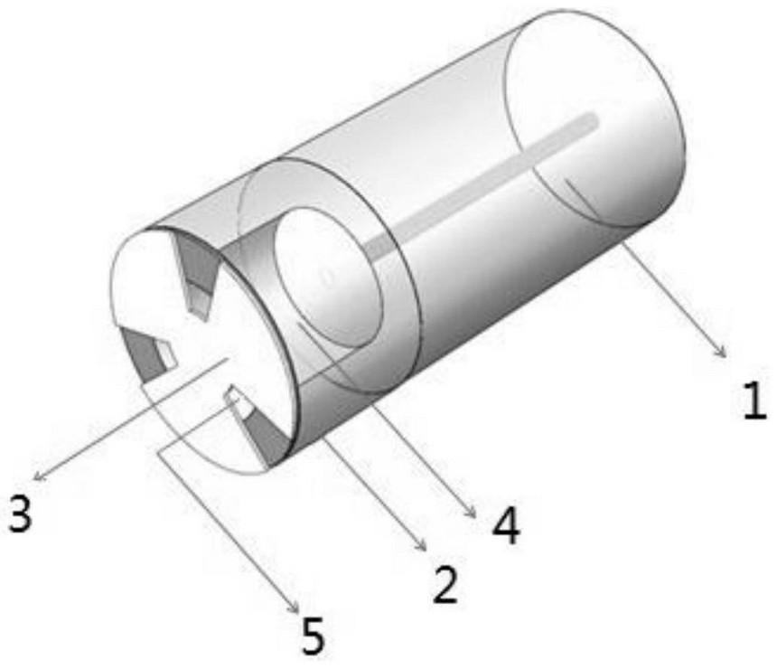 本发明光纤内置F-P多功能传感器的探头示意三维图