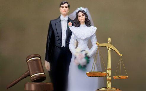 一夫一妻制婚姻形象图-网络绘画图