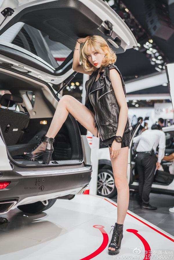 美女模特王安琪车展高清图片