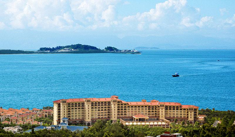 厦门帝元维多利亚大酒店海景鸟瞰图