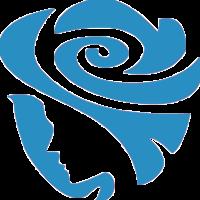 淡蓝色玫瑰女性头像LOGO