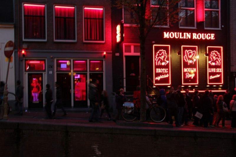 荷兰阿姆斯特丹红灯店男人的天堂