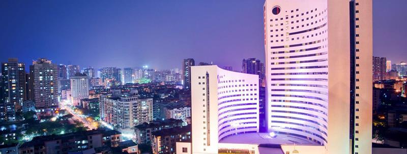 厦门京闽中心酒店建筑俯瞰图