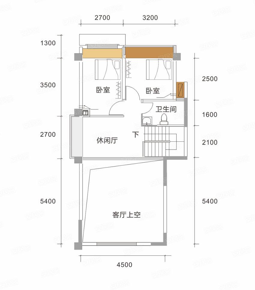 H户型, 3室3厅2卫1厨, 建筑面积约140.00平米.jpg