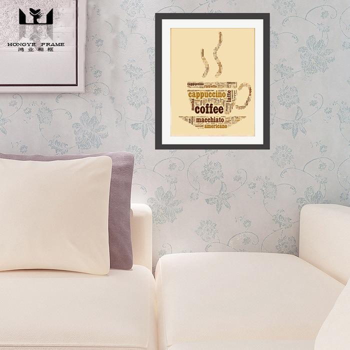 相框批发订制厂家餐厅书房咖啡报纸PS相框装饰画 美式简约客厅沙发背景墙装饰画