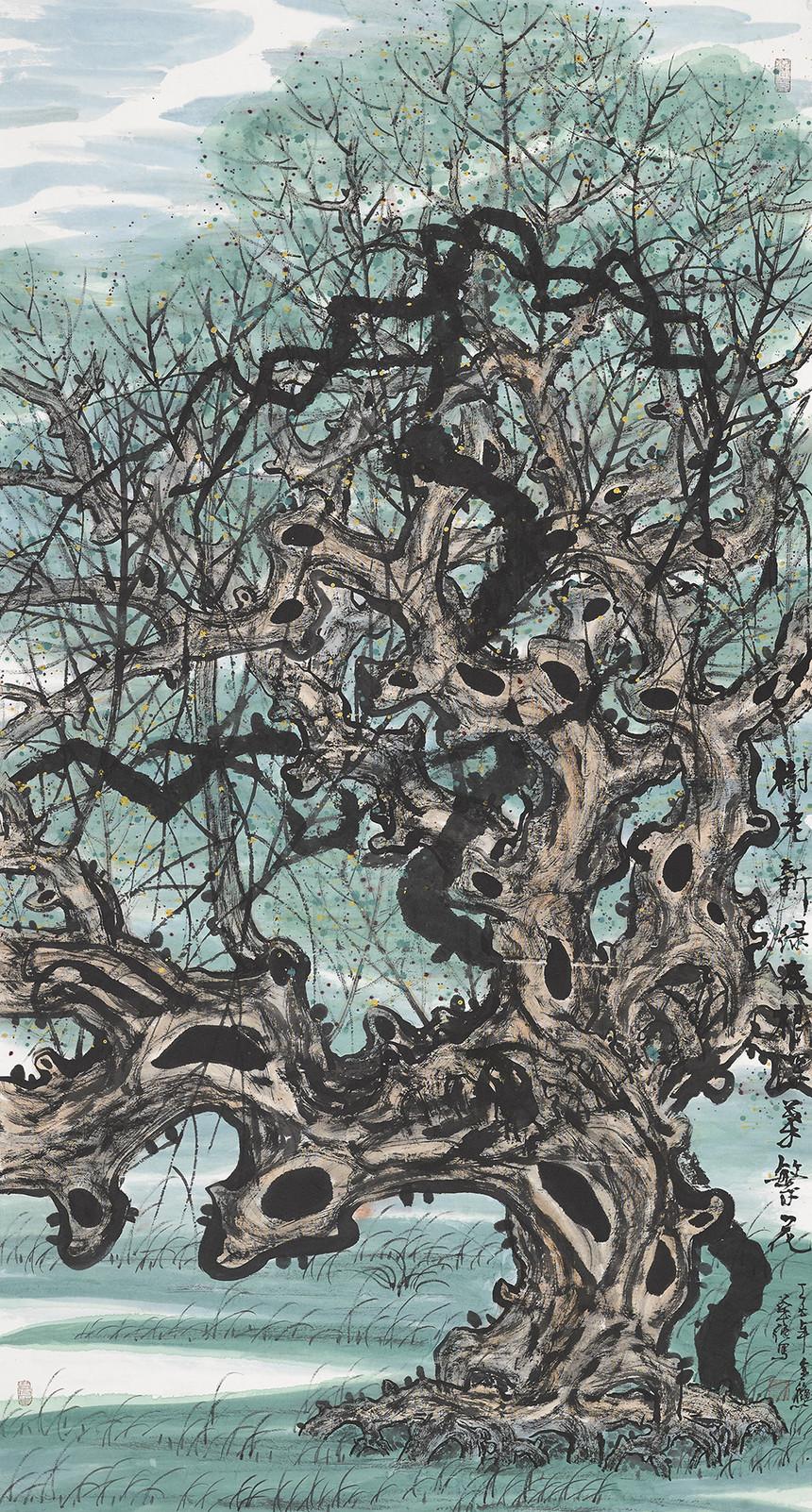 057陆华强--树老新叶.jpg
